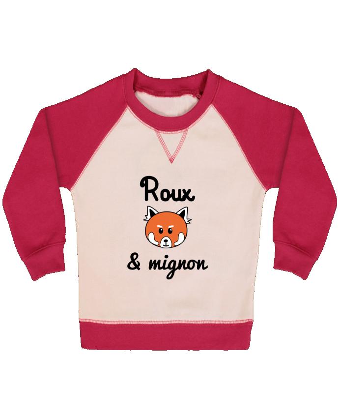 Sweat bébé manches contrastée Roux & Mignon, Panda roux par Benichan