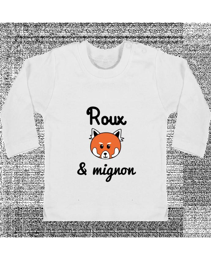 T-shirt bébé Roux & Mignon, Panda roux manches longues du designer Benichan