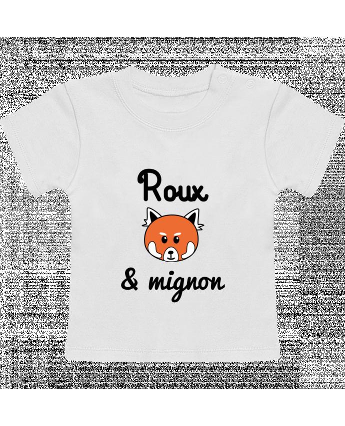 T-shirt bébé Roux & Mignon, Panda roux manches courtes du designer Benichan