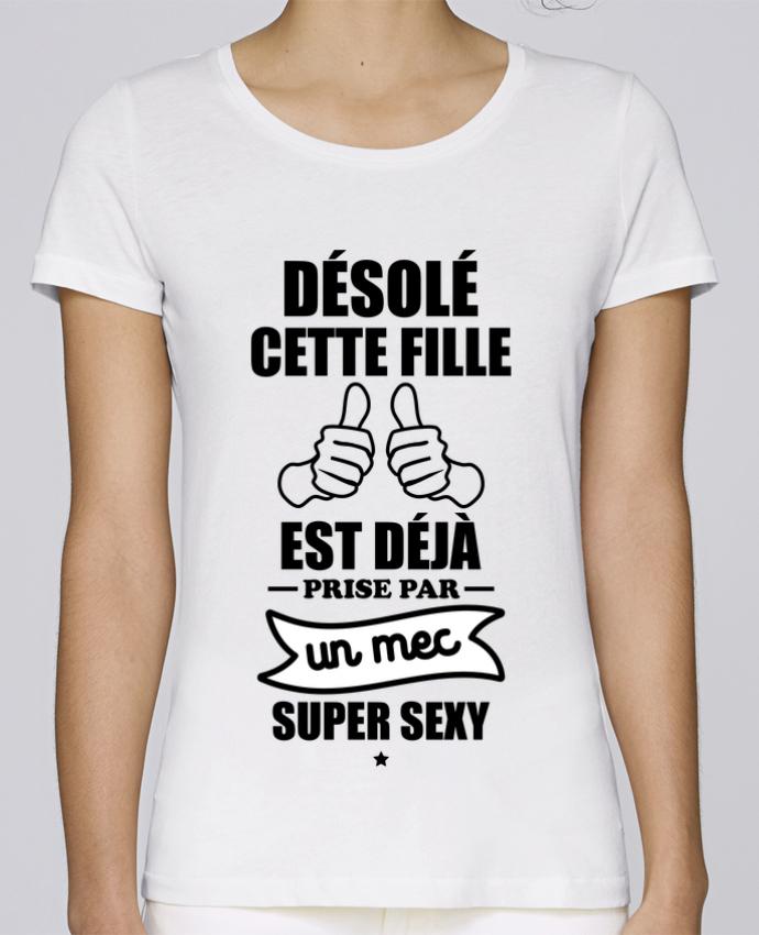 T-shirt Femme Stella Loves Cette fille est déjà prise par un mec super sexy par Benichan