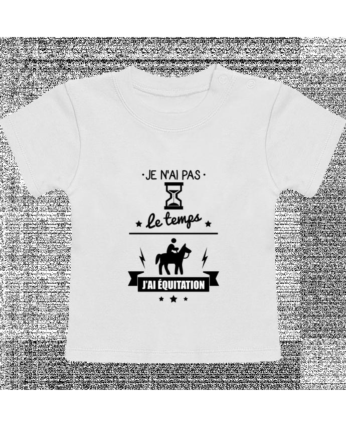 T-shirt bébé Je n'ai pas le temps j'ai équitation manches courtes du designer Benichan