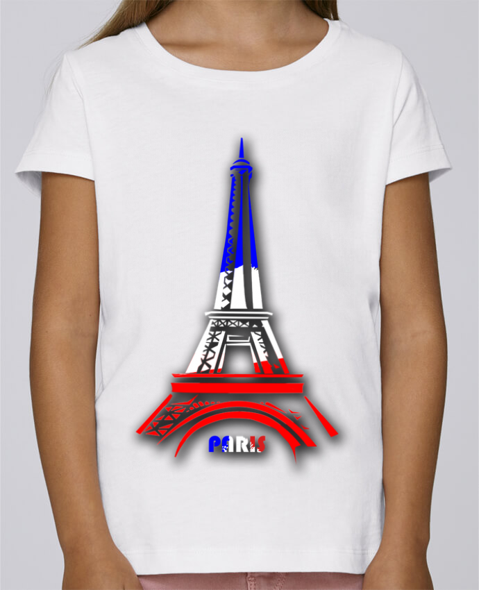 4a962bac39302 T-shirt Fille Mini Stella Draws Tour Eiffel PARIS par designer26