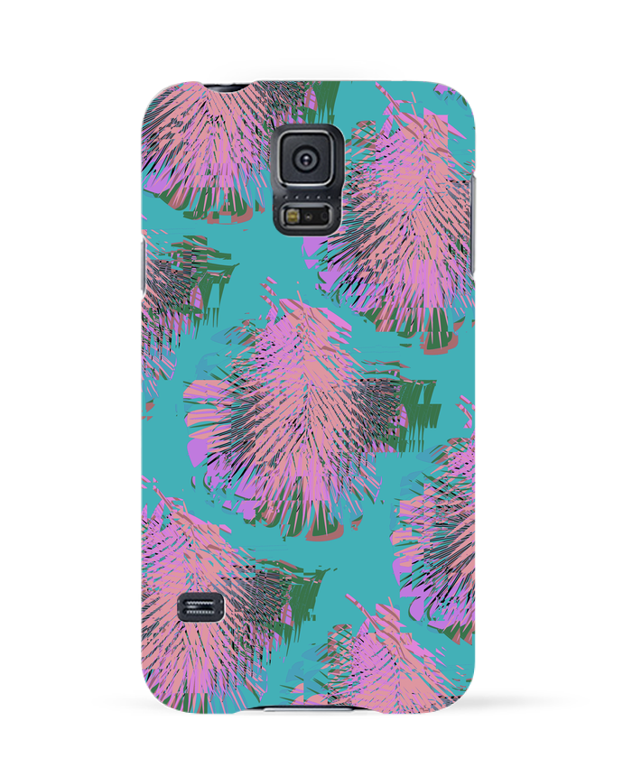Coque 3D Samsung Galaxy S5 Pink Palms par L'Homme Sandwich