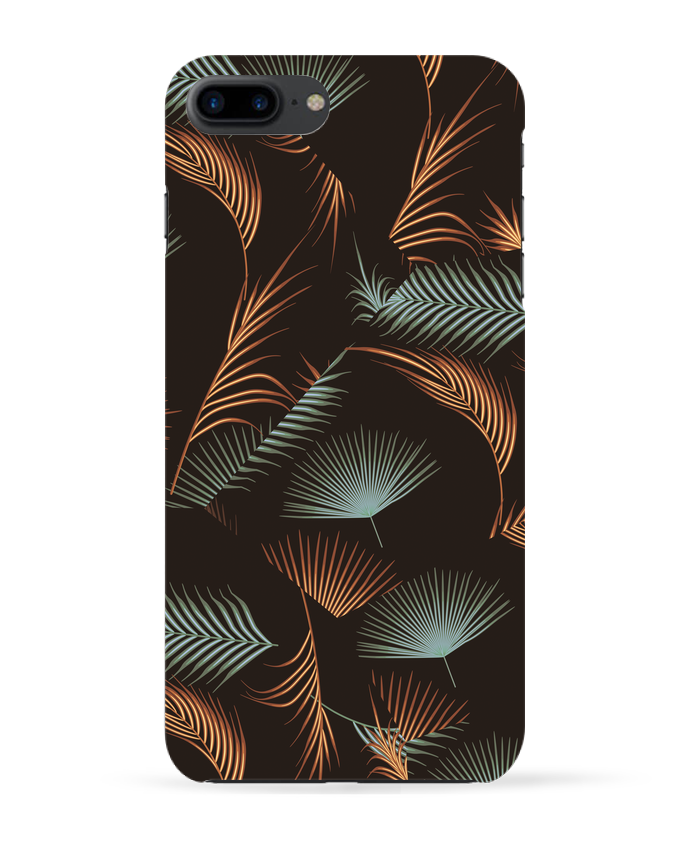 Coque 3D Iphone 7+ Golden Palms par L