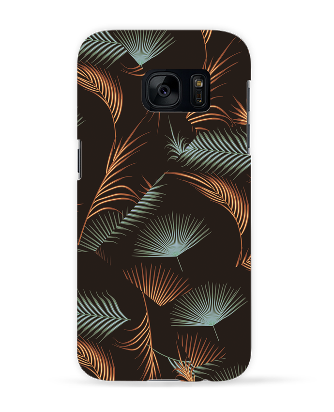 Coque 3D Samsung Galaxy S7 Golden Palms par L