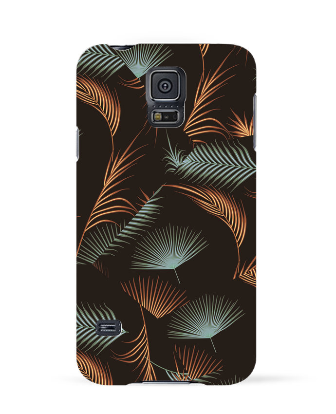 Coque 3D Samsung Galaxy S5 Golden Palms par L