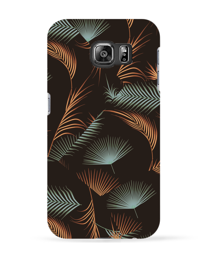 Coque 3D Samsung Galaxy S6 Golden Palms - L