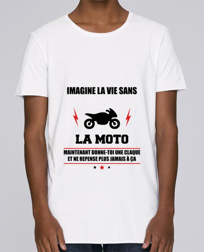 T-shirt Homme Oversized Stanley Skates Imagine la vie sans la moto par Benichan