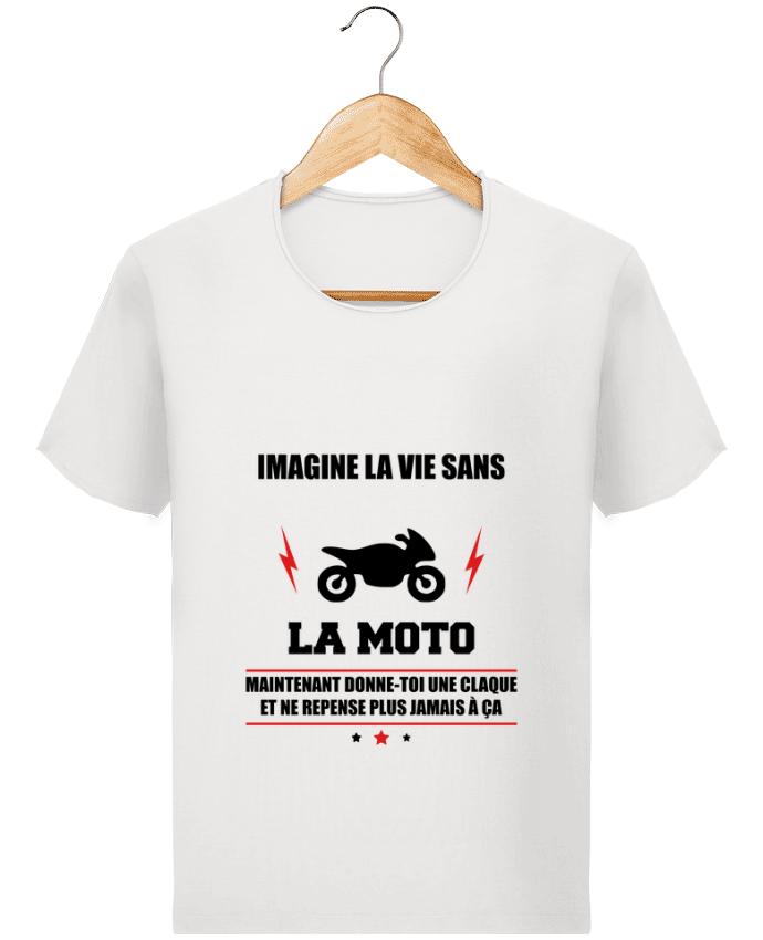 T-shirt Homme Stanley Imagines Vintage Imagine la vie sans la moto par Benichan