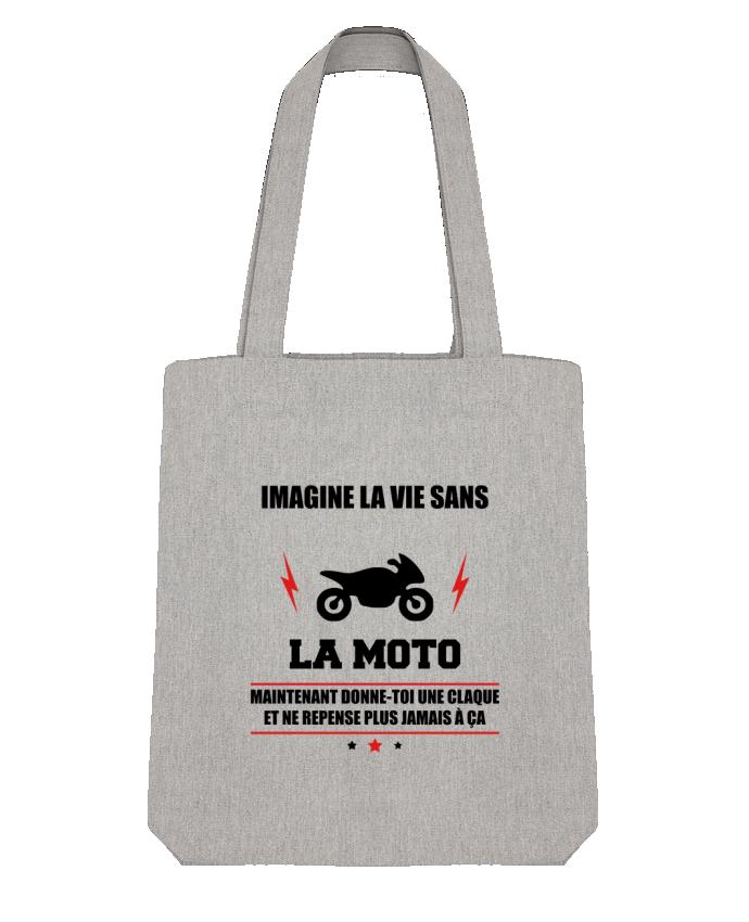 Tote Bag Stanley Stella Imagine la vie sans la moto par Benichan