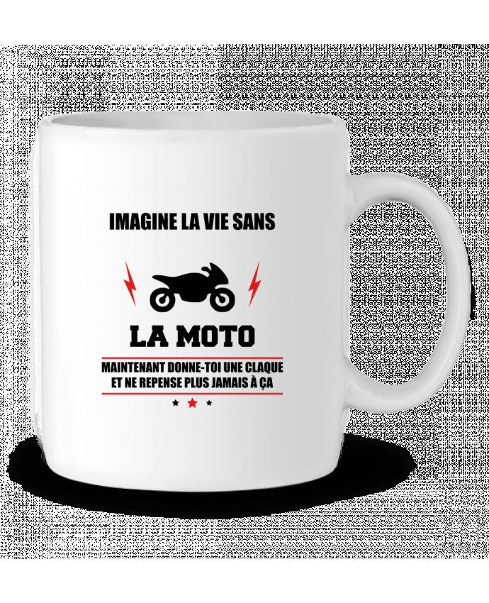 Mug en Céramique Imagine la vie sans la moto par Benichan