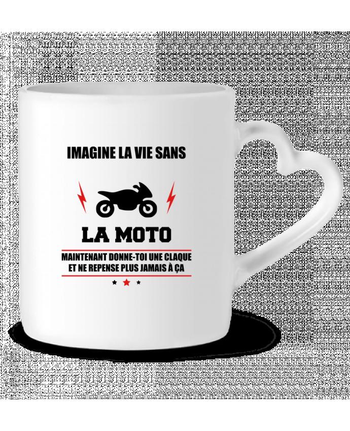 Mug Coeur Imagine la vie sans la moto par Benichan