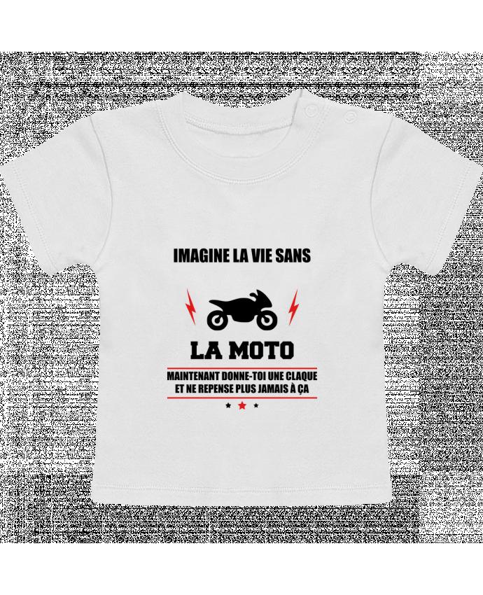 T-Shirt Bébé Manches Courtes Imagine la vie sans la moto manches courtes du designer Benichan