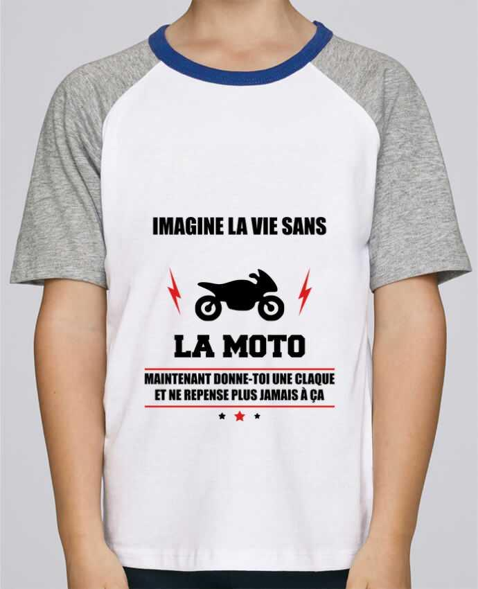 Tee-Shirt Enfant Stanley Mini Jump Short Sleeve Imagine la vie sans la moto par Benichan