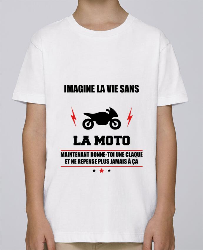 Tee Shirt Garçon Stanley Mini Paint Imagine la vie sans la moto par Benichan