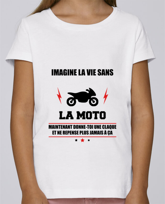 T-shirt Fille Mini Stella Draws Imagine la vie sans la moto par Benichan