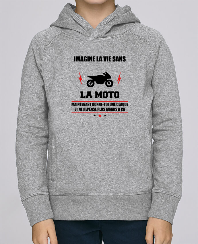 Sweat à Capuche Enfant Stanley Mini Base Imagine la vie sans la moto par Benichan