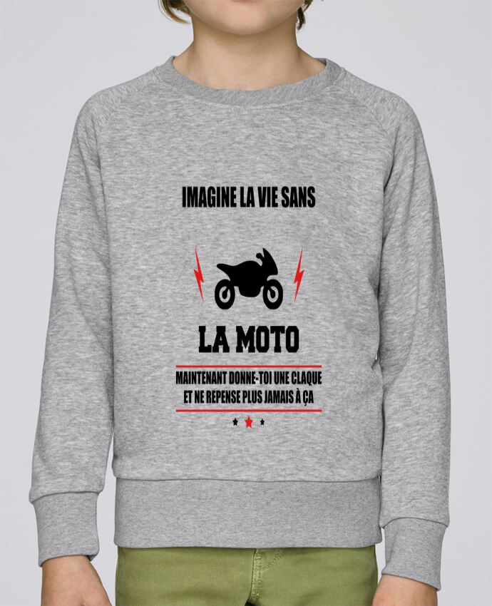 Sweat Col Rond Enfant Stanley Mini Scouts Imagine la vie sans la moto par Benichan