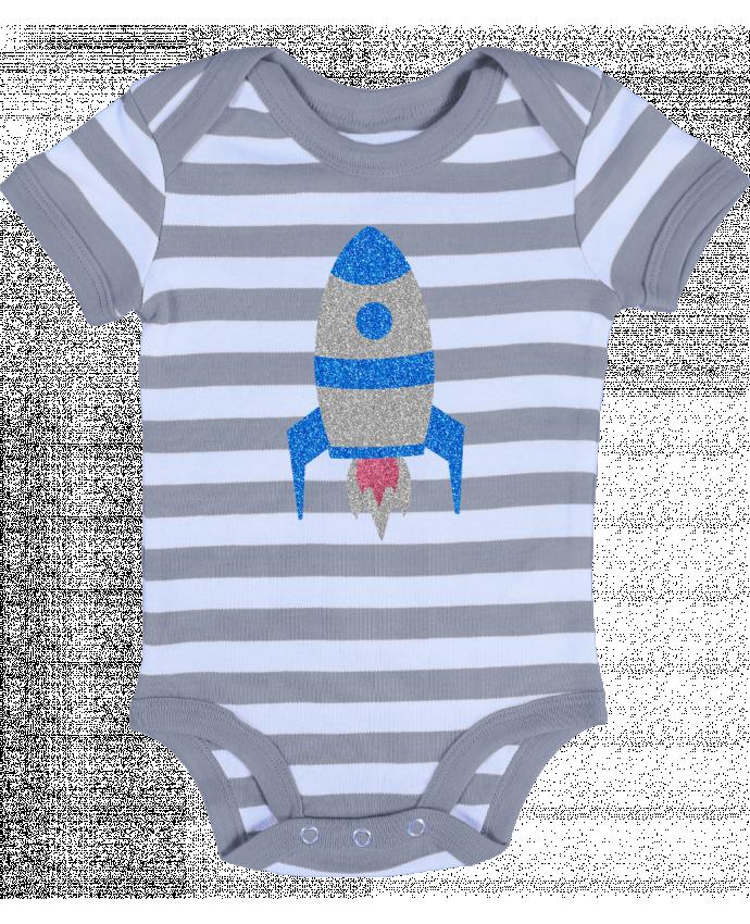 Body Bébé à Rayures Fusée - Les Caprices de Filles