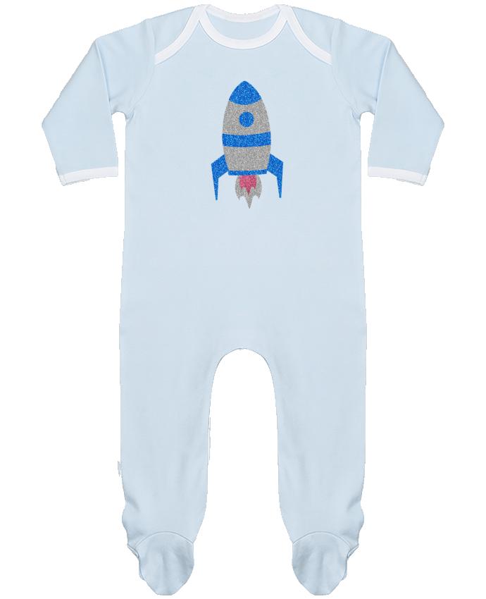 Pyjama Bébé Manches Longues Contrasté Fusée par Les Caprices de Filles