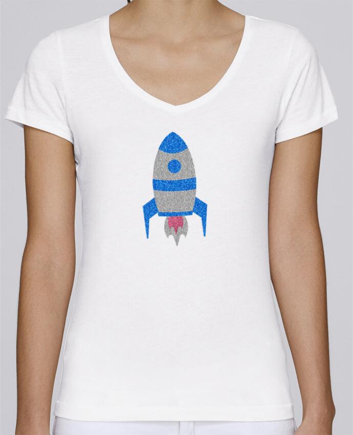 T-shirt Femme Col V Stella Chooses Fusée par Les Caprices de Filles