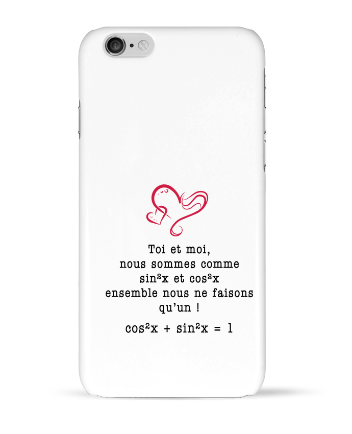 4532532 coque 3d iphone 6 blanc t shirt avec une intuitive citation d amour by boutikto