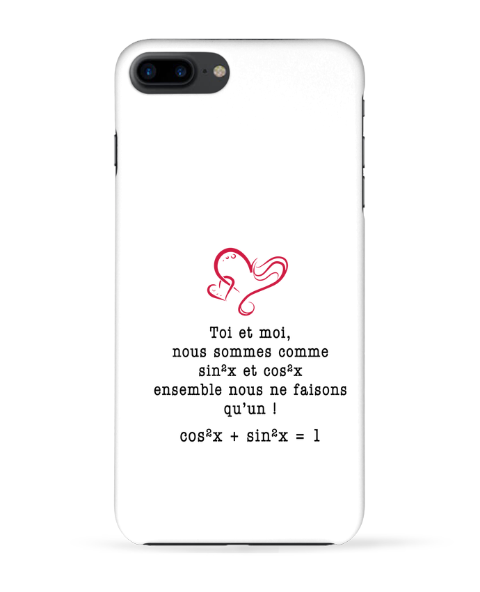 4532535 coque 3d iphone 7 blanc t shirt avec une intuitive citation d amour by boutikto