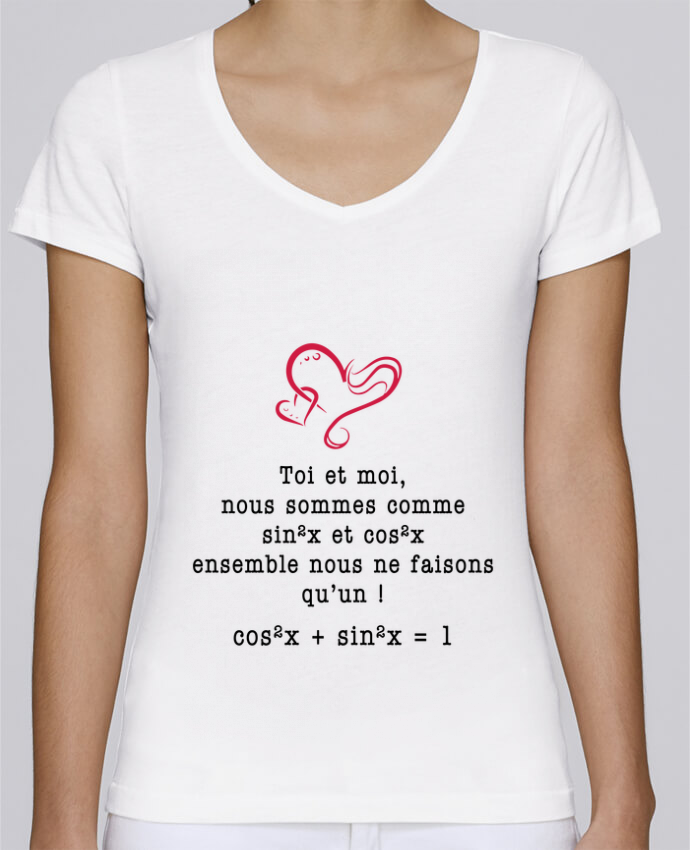 74bb78f45a T-shirt Femme Col V Stella Chooses T-shirt avec une intuitive citation d