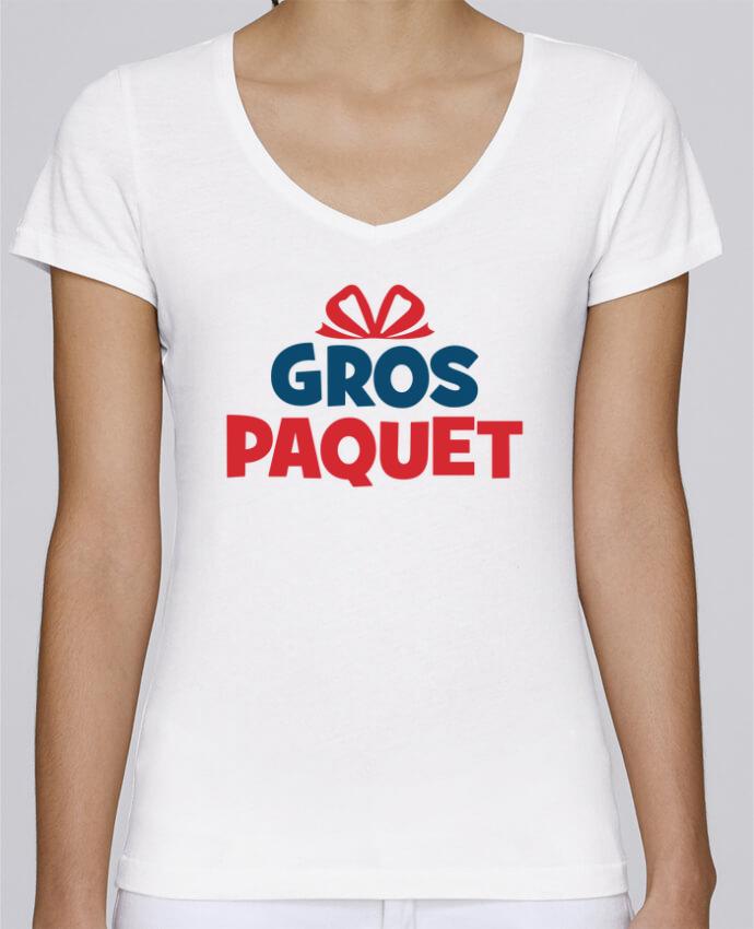 T-shirt Femme Col V Stella Chooses Noël - Gros paquet par tunetoo