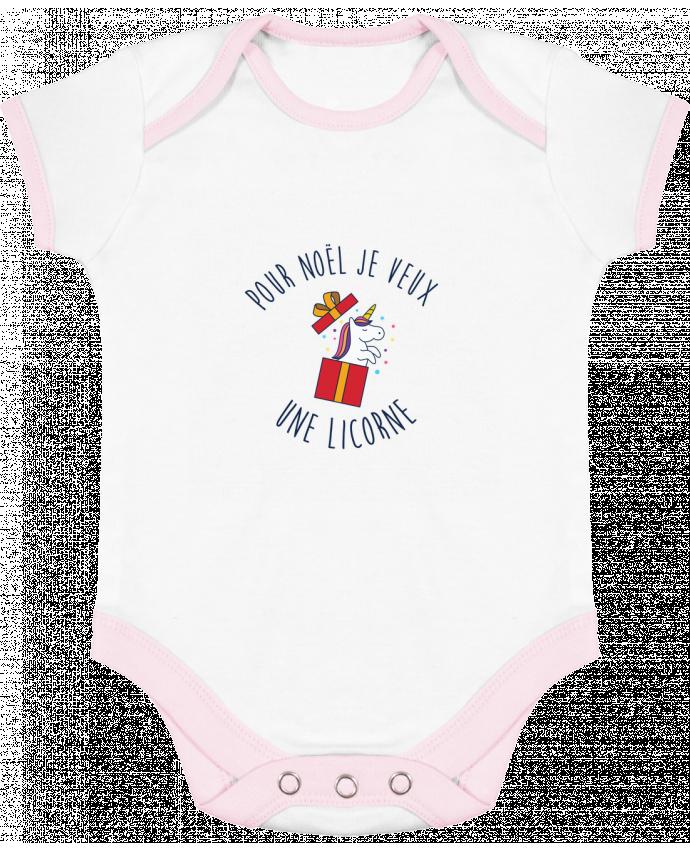 Body Bébé Contrasté Noël - Je veux une licorne par tunetoo