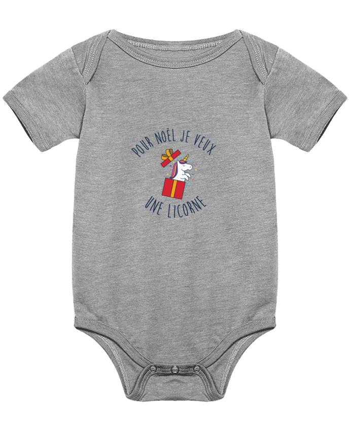 Body Bébé Noël - Je veux une licorne par tunetoo