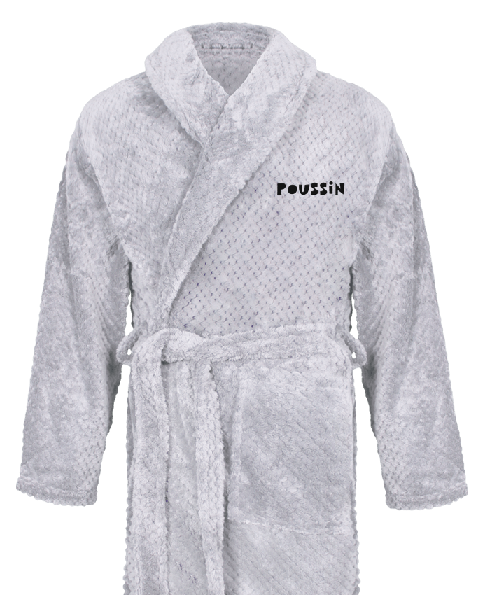 Peignoir Homme Soft Coral Fleece Appelle moi poussin par tunetoo