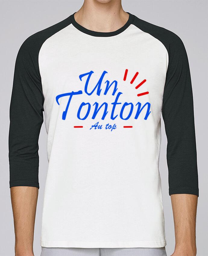 T-Shirt Stanley Stella baseball col rond unisex un tonton au top par Milie