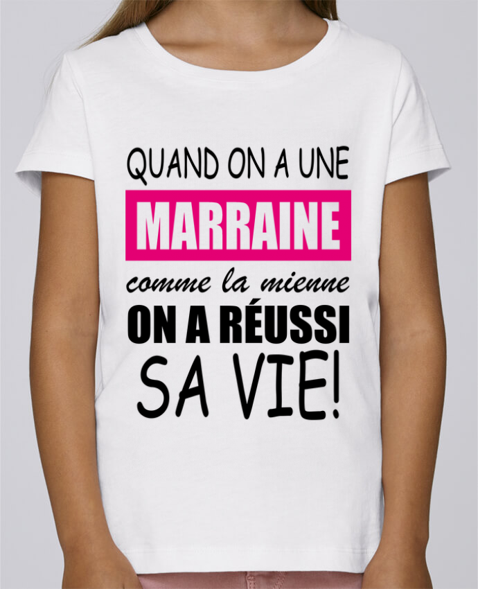 T-shirt Fille Mini Stella Draws quand on a une marraine comme la mienne par Milie