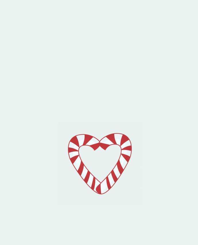 Sac en Toile Coton Christmas Candy Cane Heart par tunetoo