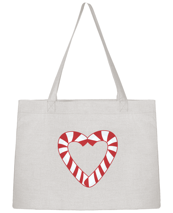 Sac Cabas Shopping Stanley Stella Christmas Candy Cane Heart par tunetoo
