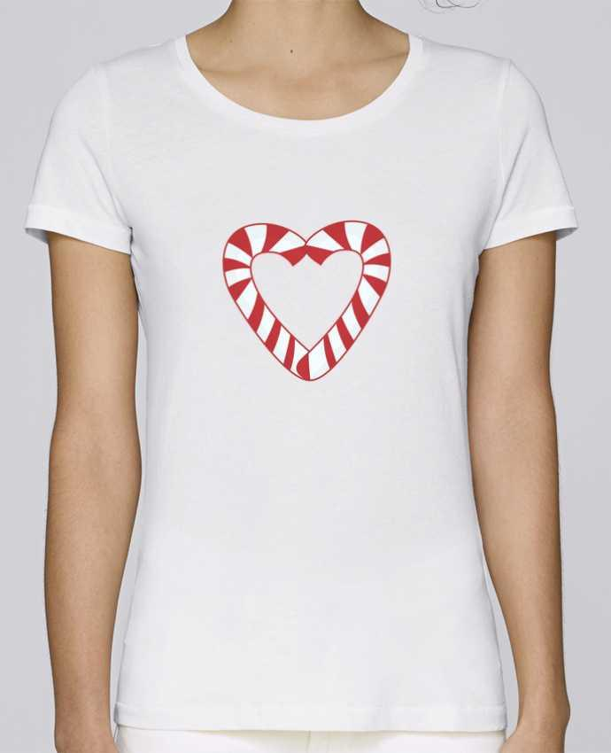 T-shirt Femme Stella Loves Christmas Candy Cane Heart par tunetoo
