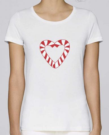 T-shirt Femme Stella Loves Christmas Candy Cane Heart par tunetoo