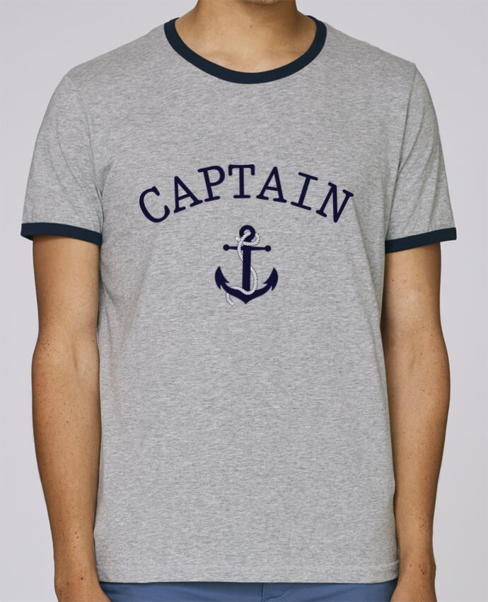 T-Shirt Ringer Contrasté Homme Stanley Holds Capitain and first mate pour femme par tunetoo