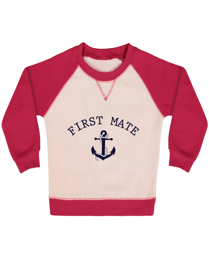 Sweat Shirt Bébé Col Rond Manches Raglan Contrastées Capitain and first mate par tunetoo