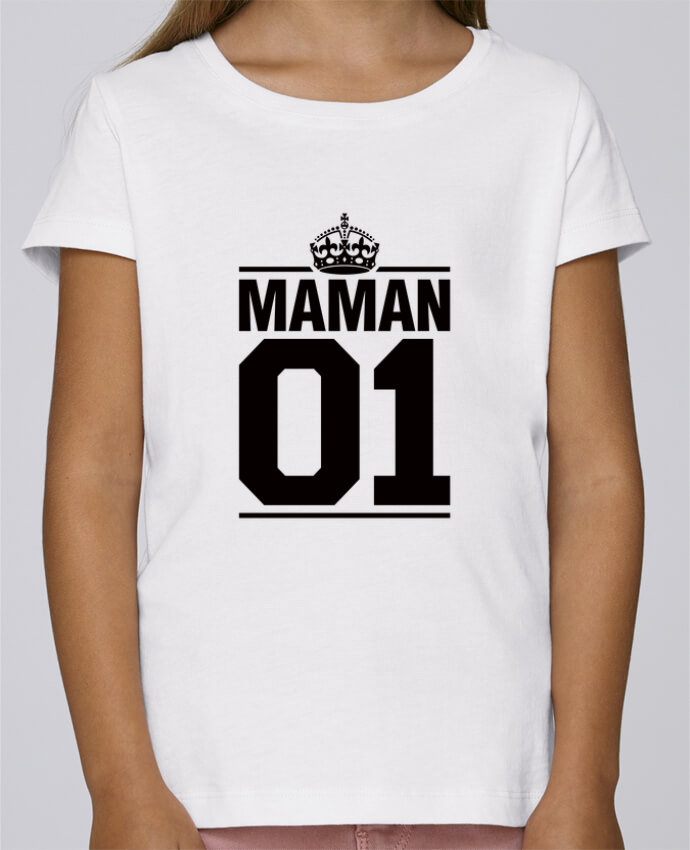 T-shirt Fille Mini Stella Draws Maman 01 par Freeyourshirt.com