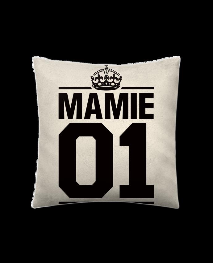 Coussin suédine Mamie 01 par Freeyourshirt.com