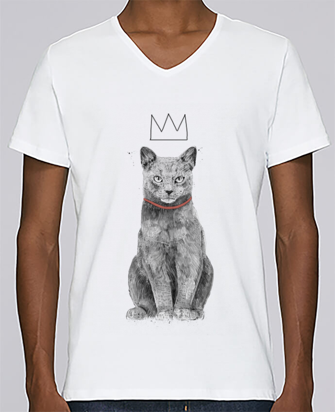 T-shirt Col V Homme Stanley Relaxes King Of Everything par Balàzs Solti
