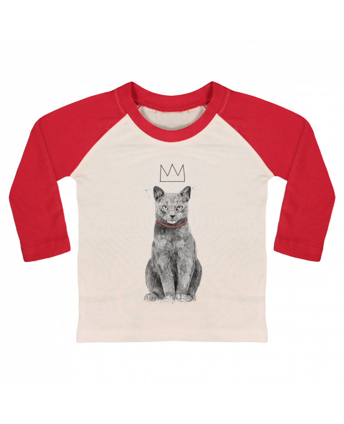 T-shirt Bébé Baseball Manches Longues King Of Everything par Balàzs Solti