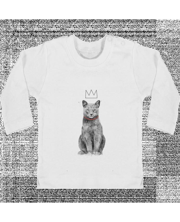 T-shirt Bébé Manches Longues Boutons Pression King Of Everything manches longues du designer Balàzs Solti