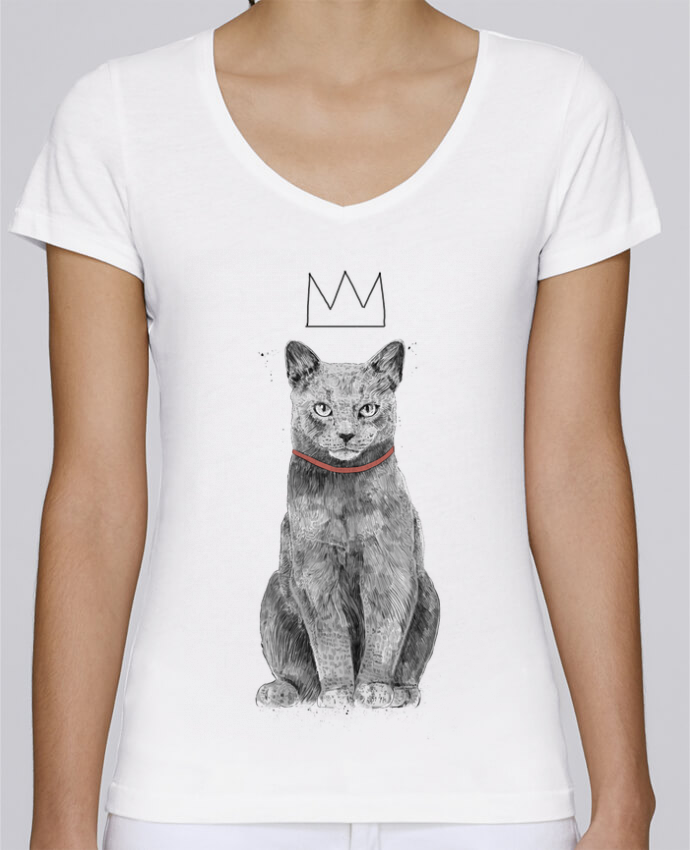T-shirt Femme Col V Stella Chooses King Of Everything par Balàzs Solti