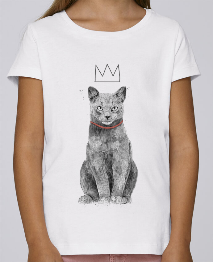 T-shirt Fille Mini Stella Draws King Of Everything par Balàzs Solti