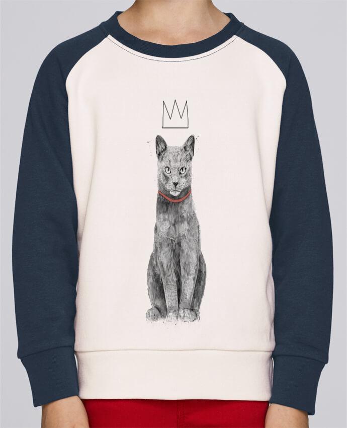 Sweat Shirt Col Rond Enfant Stanley Mini Contrast King Of Everything par Balàzs Solti