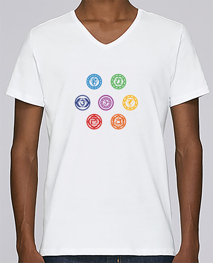 T-shirt Col V Homme Stanley Relaxes Chakras par tunetoo