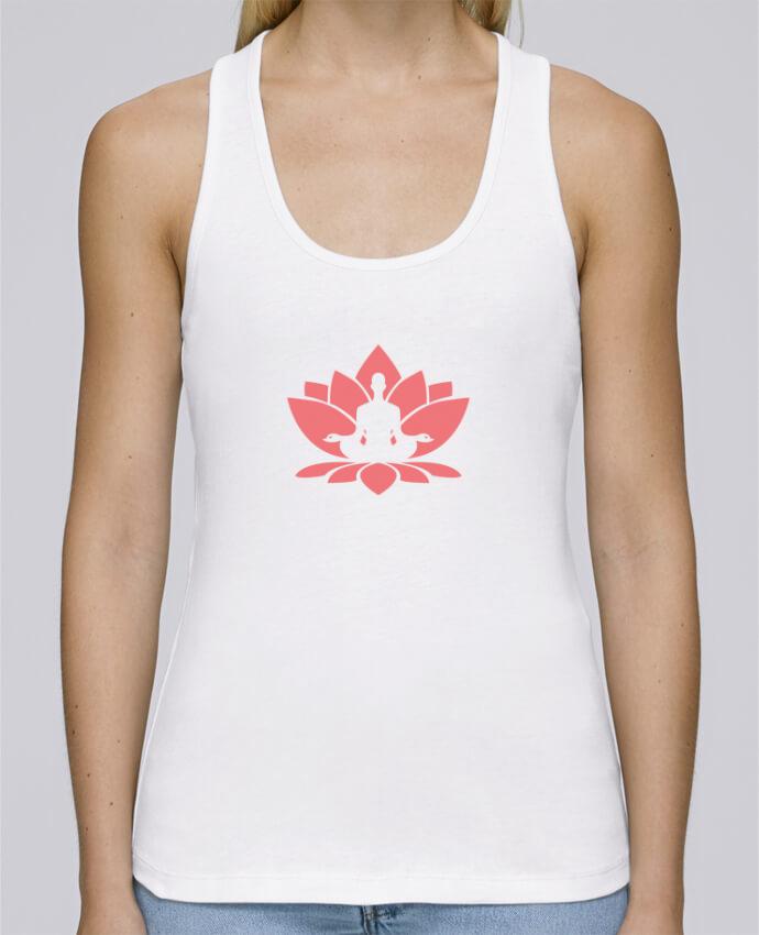 Débardeur bio femme Stella Dreams Yoga - Fleur méditation par tunetoo en coton Bio